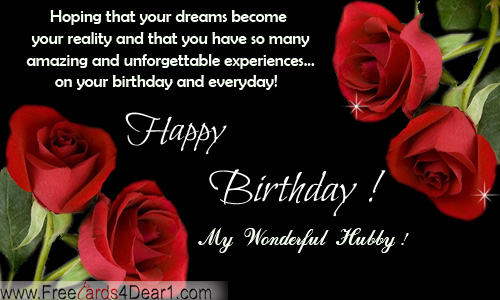 Beautiful Birthday Ecard For Husband With Roses