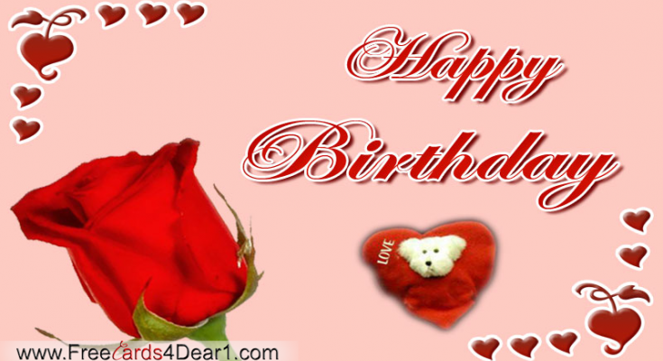 Happy Birthday Video Greeting Card For Love Sweet Heart
