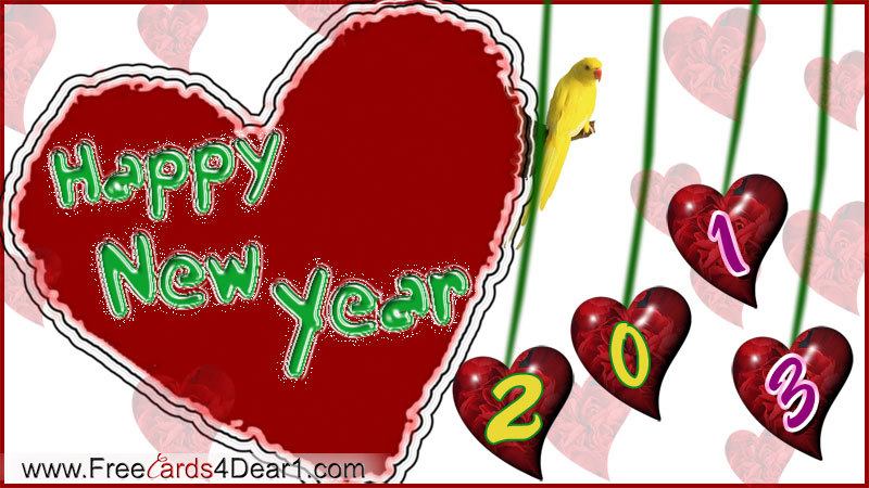new-year-2013-greeting-ecard-with-heart
