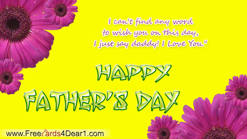 Free Father Day Ecards