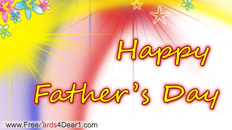 Father's Day Multicolor Greeting Card