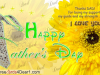 Thank you dad for being my support happy father's day card
