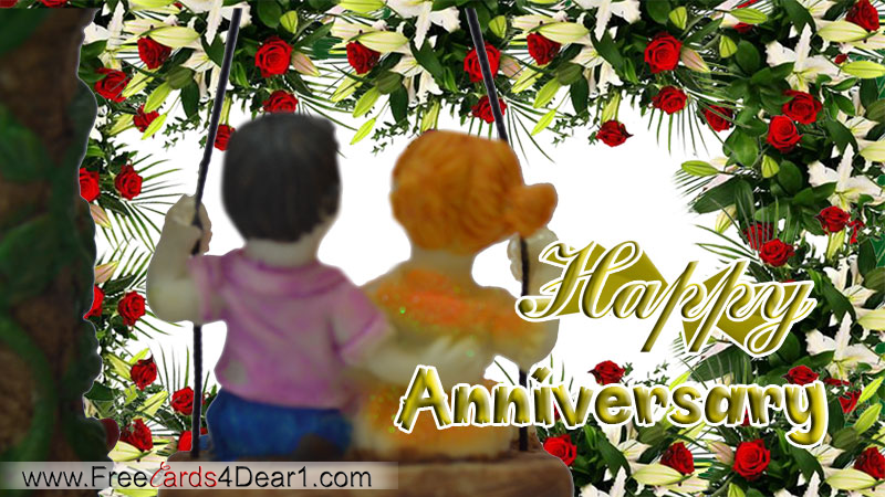 Cute Happy Anniversary Greeting Ecard