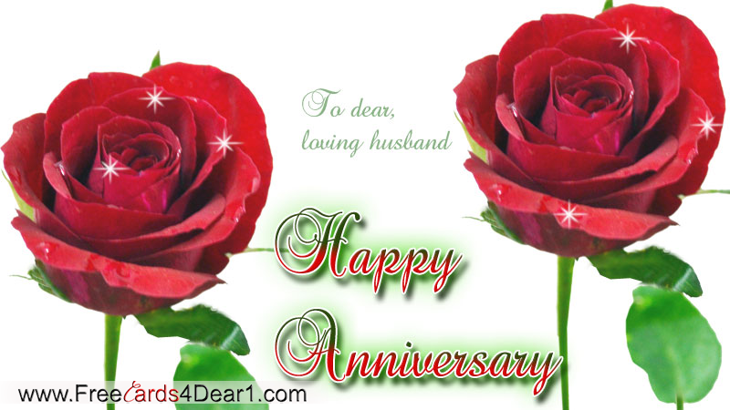 Happy Anniversary Greeting Card For Loving Husband
