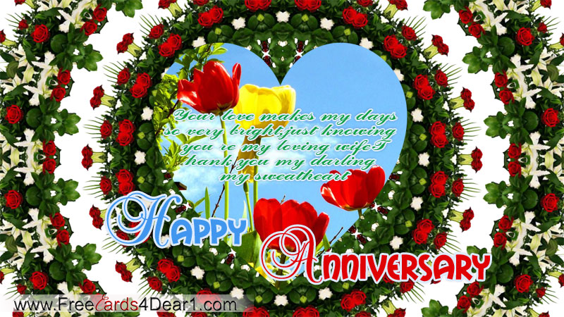 Happy Anniversary My Loving Wife Card