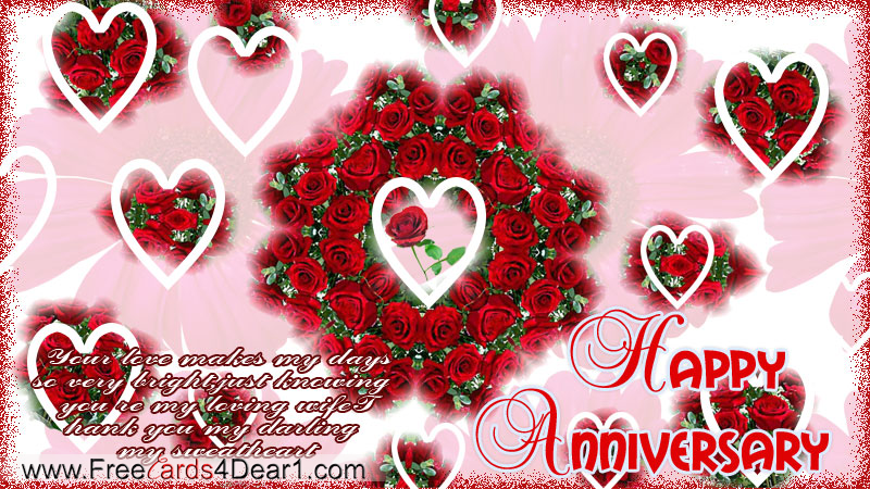 Happy Annivesary Greetings For Wife