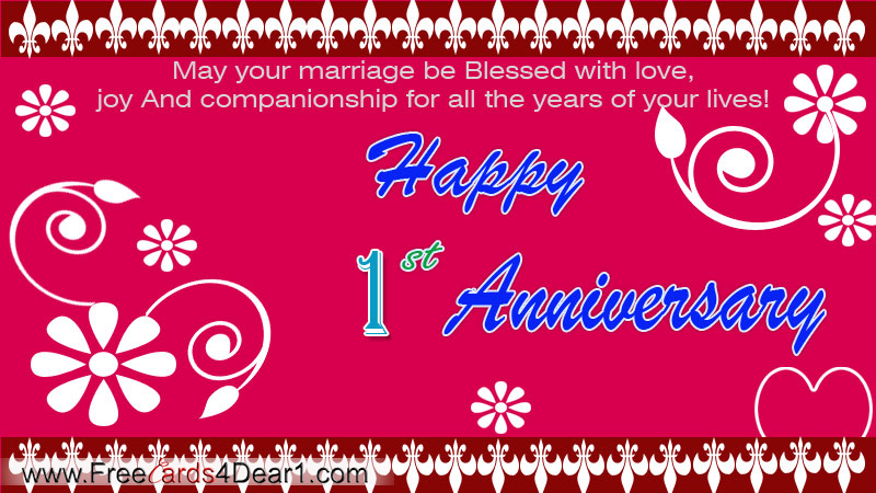 Index of wp contentgalleryhappy anniversary greetings cards happy first anniversary ecardg m4hsunfo