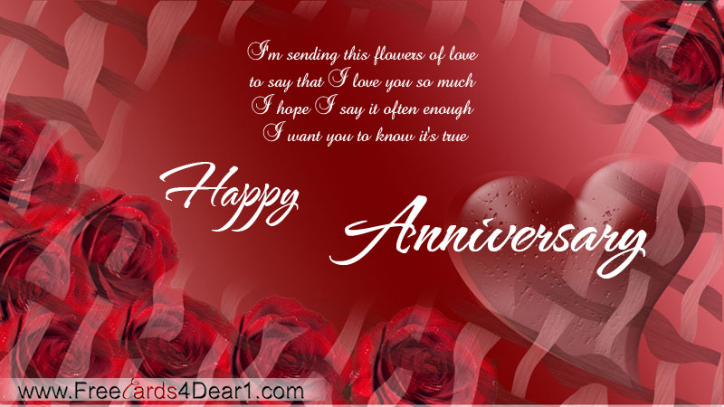 I Love You So Much Happy Anniversary Card
