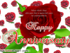 Flower Greeting Happy Anniversary Greeting Card