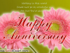 Happy Anniversary Flower Greeting Card