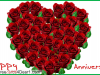 Happy Anniversary Heart Of Roses Greeting Card