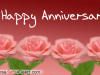 Happy Anniversary Pink Roses Greeting Card