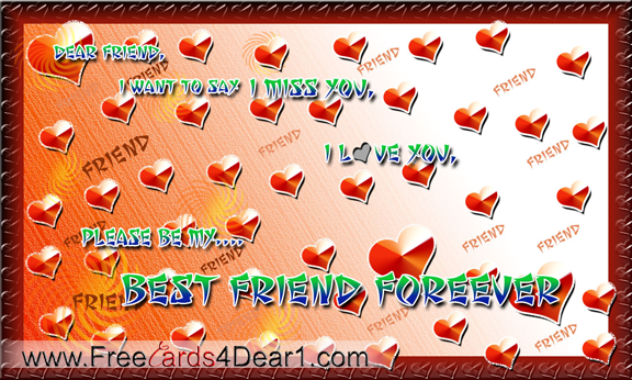 Be my best friend forever greeting card greeting cards be my best friend forever m4hsunfo