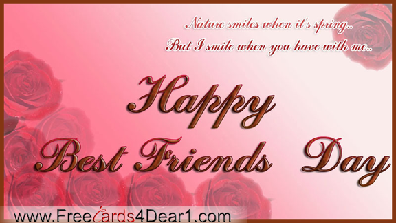 Happy Best Friends Day Greeting Card