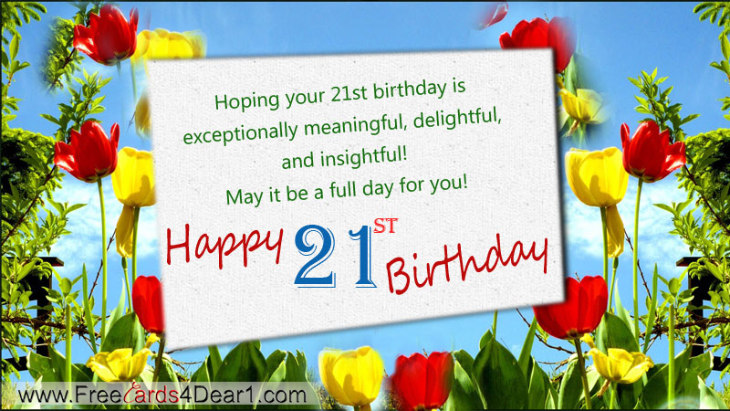 Happy 21th Birthday Ecard