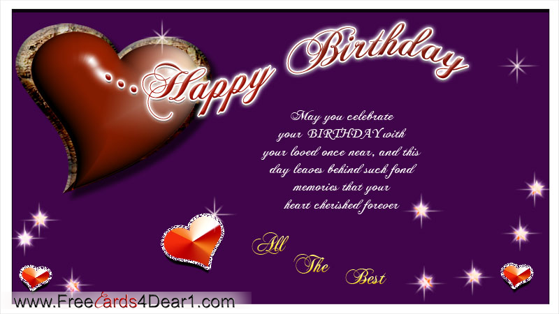 Birthday Greeting Card For Love
