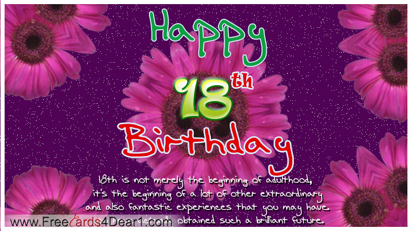 Happy 18th Birthday Quotes Quotesgram Happy 18th Birthday Wishes For