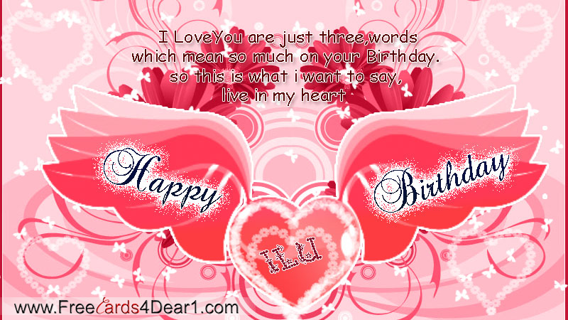 Happy Birthday Card For Love Greeting Cards