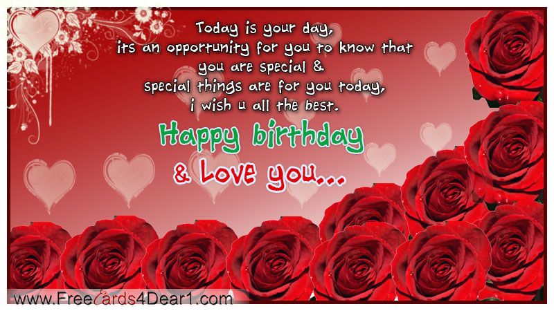 Happy Birthday, Heart Love happy birthday ecard for sweet