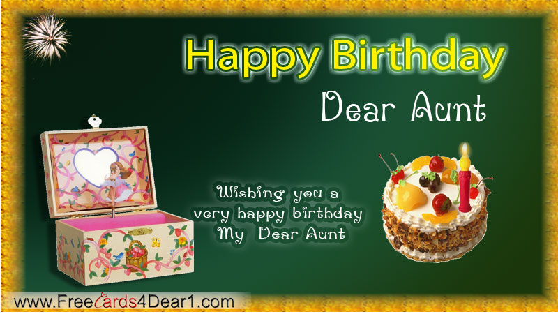 Birthday greeting card for dear aunt wishing you a very happy birthday
