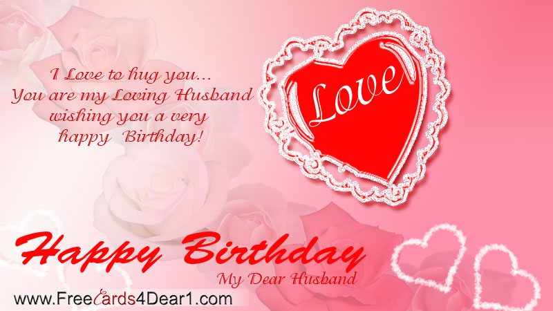 Happy Birthday Cards For Husband gangcraftnet – Birthday Cards Ecard