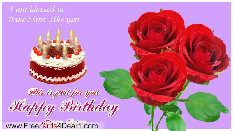 Birthday Greeting Card For Sister Greeting Cards