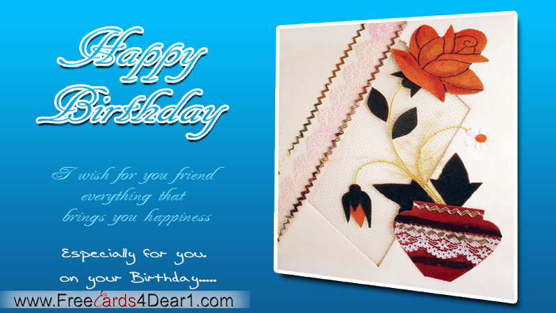 Happy Birthday Greeting Card For Friend
