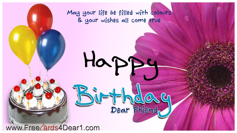 Birthday Greeting Card For a Friend – Happy Birthday Wishes Greetings for Friends