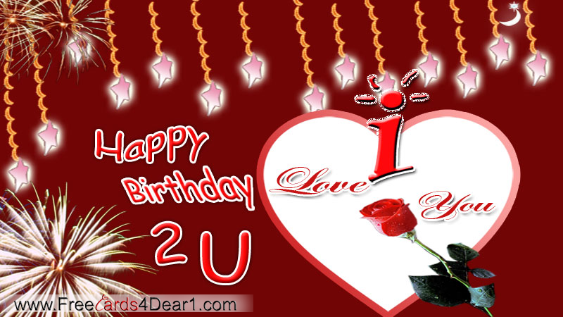 Happy Birthday Greeting Card For Love
