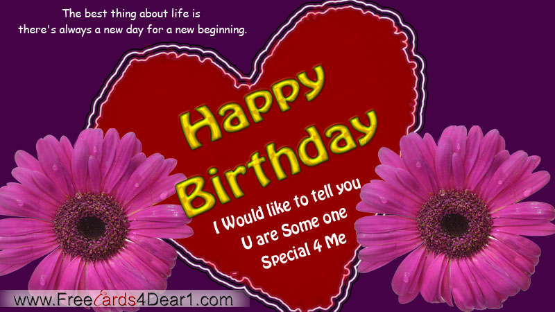Birthday Greetings For Someone Special – Special Birthday Greeting