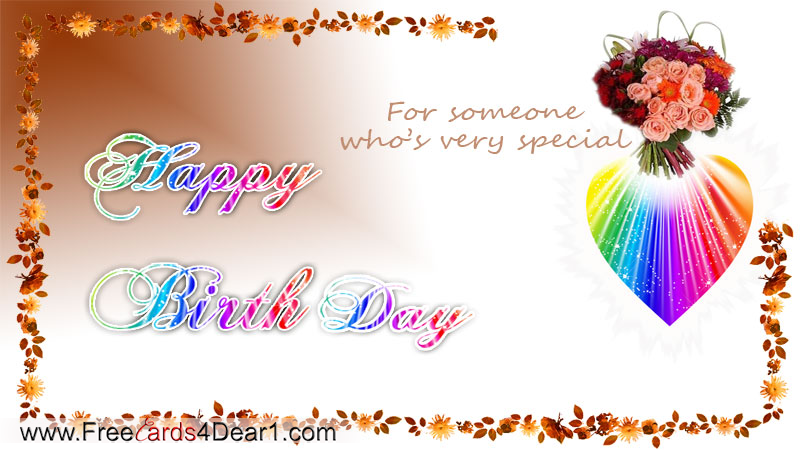 Birthday Greetings For Someone Special – Birthday Card for Someone Special