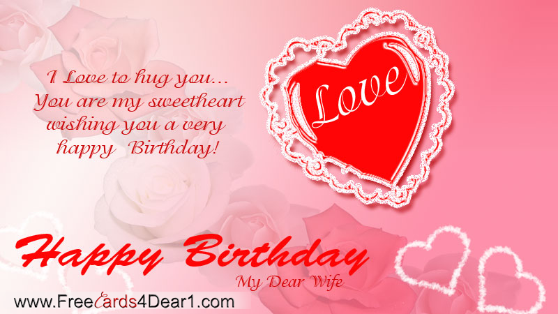 I Love To Hug You Birthday Greeting Card For Wife