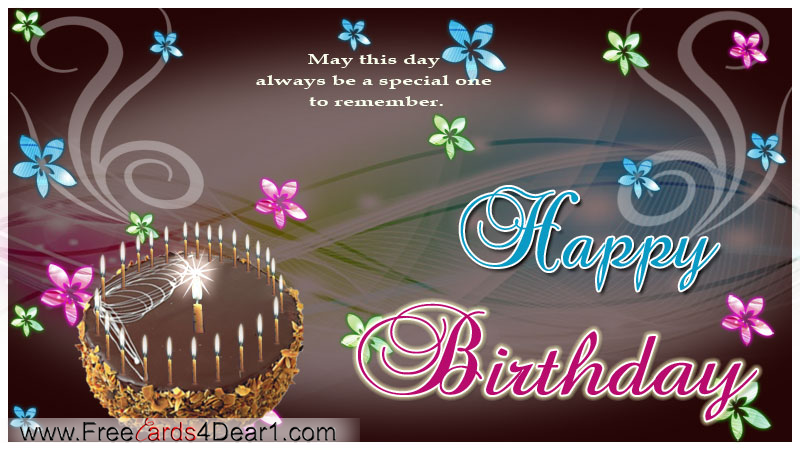 E Card Happy Birthday gangcraftnet – E Greeting Birthday Card