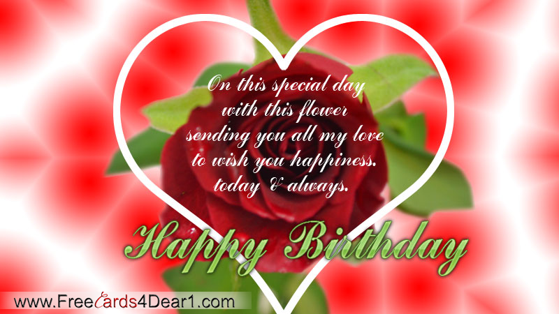 Sending You All My Love To Wish You Happy Birthday Greeting – Birthday Love Greeting Cards