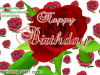Birthday Greeting Card With Rose Flowers