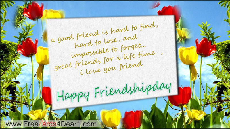 free happy friendship day greeting cards ecards