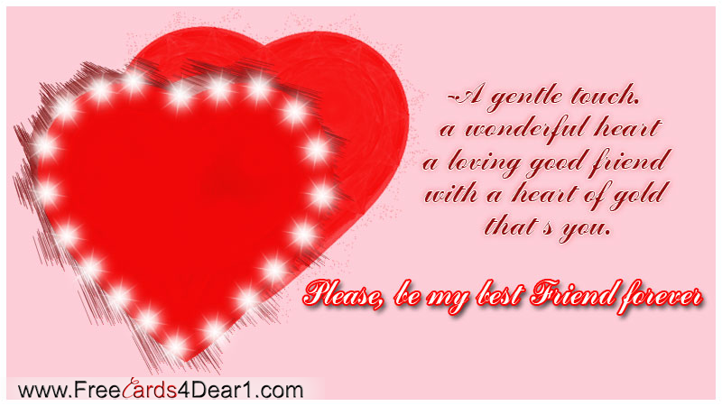 Be My Best Friend For Ever Friendship Day Card