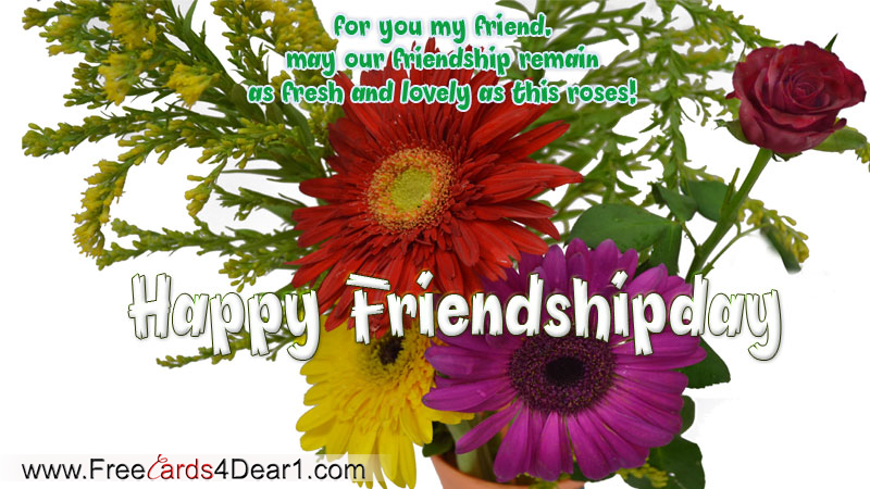For You My Friend Happy Friendship Day Greeting Card