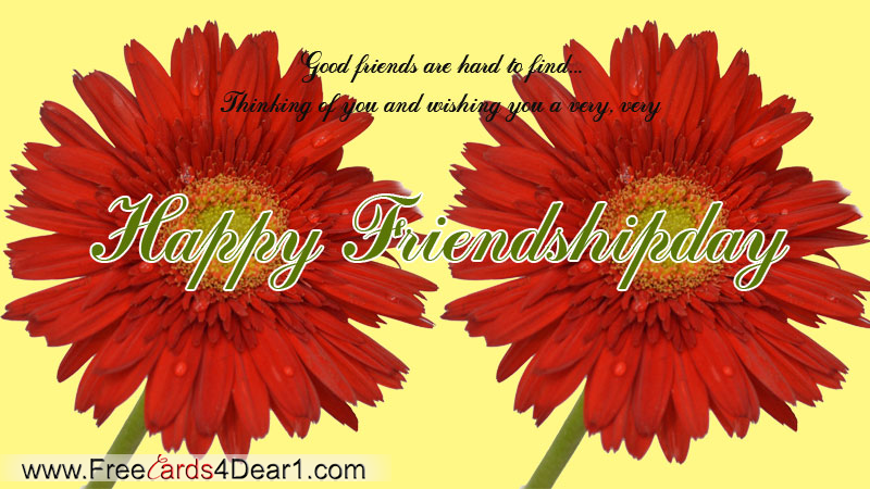 Good Friends Are Hard To Find Happy Friendship Day Card