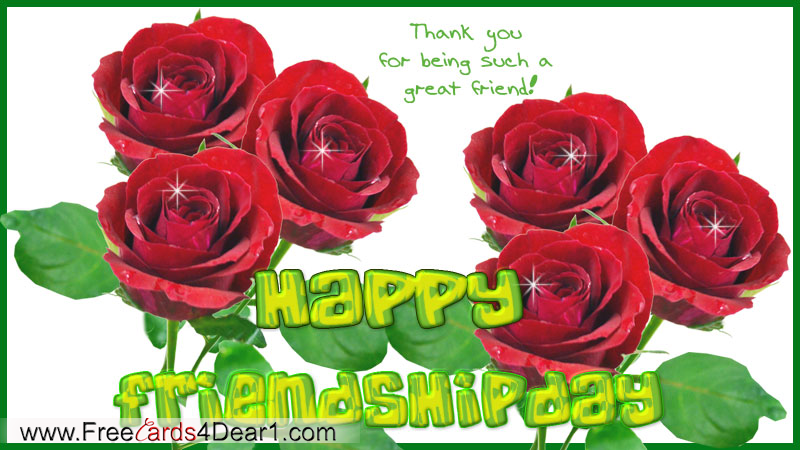Thank You For Being Such A Friend Happy Friendship Day Card