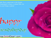 Happy Friendship Day Card With Wonderful Rose