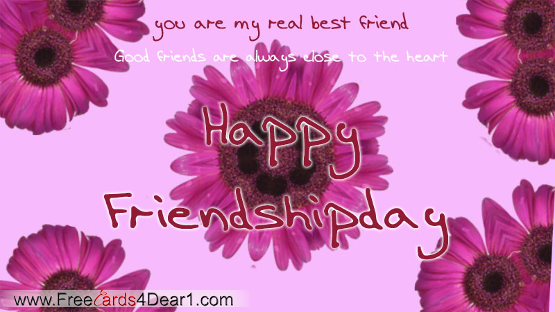 You Are My Real Best Friend Happy Friendship Day Card