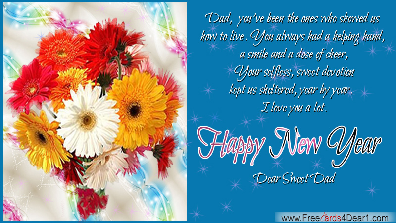happy new year greeting for dad