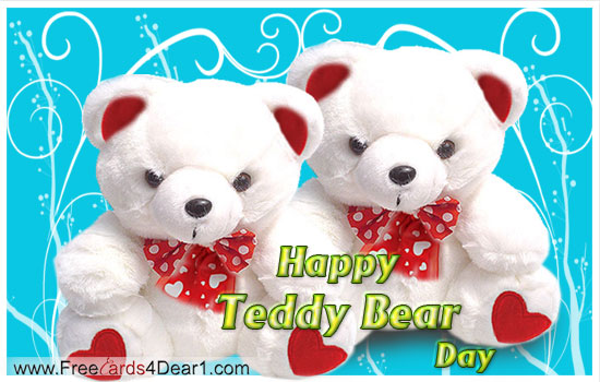 cute teddy day e greetings