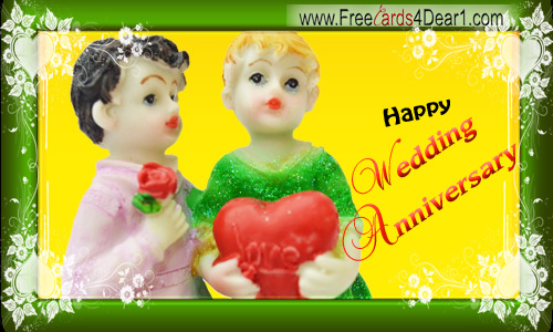 Happy Wedding Anniversary Greeting Ecard