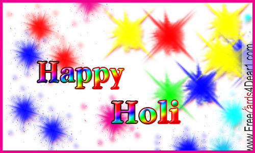 colourful holi card