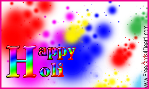 holi greeting ecard