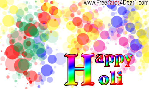 Happy holi greeting ecard
