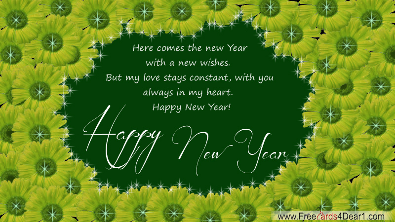wish you a very happy new year greetings